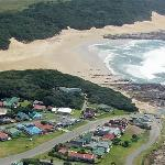 Aerial view of Kidd's Beach, near East London