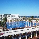 The pool balcony view!