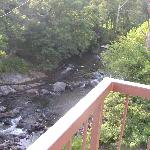 View upriver from balcony