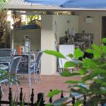 looking from our verandah to BBQ area