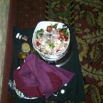 greek salad outside our room (not ours)