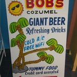 The sign in front of Bob's:)