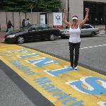 Crossing the Boston Marathon Finish Line!