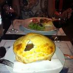 French onion soup & three bruschetta