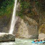 Waterfall on the Pacuare river