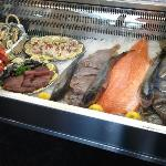 The fresh selection of seafood