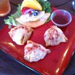 Stuffed shrimp wellington