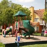 Our playground area is perfect for energetic kids.
