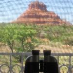 Inside Ocotillo room looking out at Bell Rock