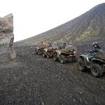 "ATVing in volcanic ""moon-like"" valleys."