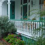 the verandah for breakfast in summer