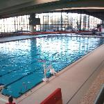 View of the swimming pool complex from the internal terrace.