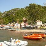 Rescue boats and resort