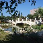 New garden pond bridge