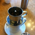 Vietnamese coffee, give it a try!  Strong and Sweet