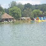 View from the pedalo on the parc lake