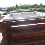 jacuzzi on our balcony