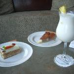 cake& pina colada before we leave!!