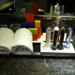 Loved the test tubes filled with shampoo & lotion etc., for guests!!!