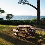 Der Garten mit Blick auf den Moray Firth