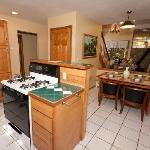 Gretnas: Fully equipped kitchen that goes out onto a sunroom and looks through to the sunken liv