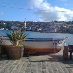 St Ives Harbour Front, 2 min. walk away