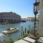 view from hte hotel terrace of the Grand Canal