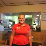 our waitress Robyn