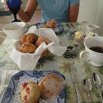 Home made cherry muffins. Cherries were locally grown