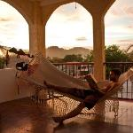 The hammock hang-out on the terrace