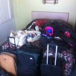 all my stuff in trash bags because THEY double booked my room, then THEY moved my stuff while I