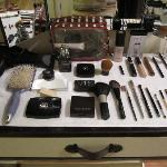 My brilliantly arranged makeup
