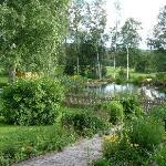 Haus 2 mit Teich
