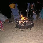 roasting smores at the bonfire