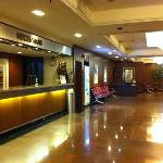 hotel lobby..