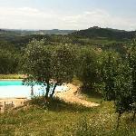 mooi zwembad met prachtig panorama