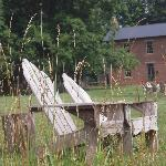 The relaxation chairs by the field