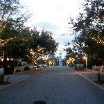 Carillon Avenue at dusk.