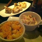Jacka$$ rolls, mac n cheese, potato soup(salad)
