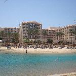 """Hotell Marriott """"taget från deras lilla ö """" Island Bar"""""""