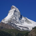The Matterhorn, 8 AM, from my balcony at the Hotel Artemis