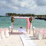 beach used for wedding