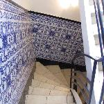 beautiful tile work in the stairwell