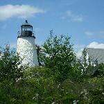 We visited this lighthouse and took a nice hike down to the rocky shore.