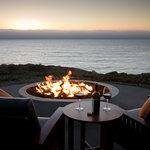 The view from the Outdoor Firepit that sets Timber Cove apart from other Sonoma Coast Hotels