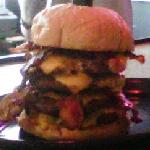 A 20oz. Burger w. Bacon and Cheese.  Seriously.