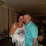 My mum with barry the DJ