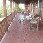The deck overlooking serenity!!