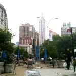 The weather is amazing! Having lunch w/ the most beautiful views in Union Square