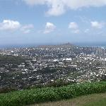 Look down and out on Diamond Head